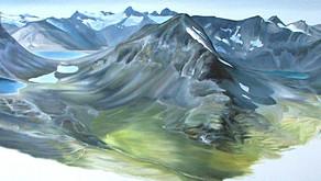Day 14 Jotunheimen, Oil on Canvas, 6ft9 x 2ft3