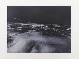 Black Beach, Graphite and Chalk on Paper
