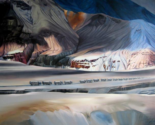 Passing Through, Oil on Canvas, 160x130cm
