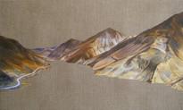 Yamdrok Tso, Oil on Linen, 20x12 inches