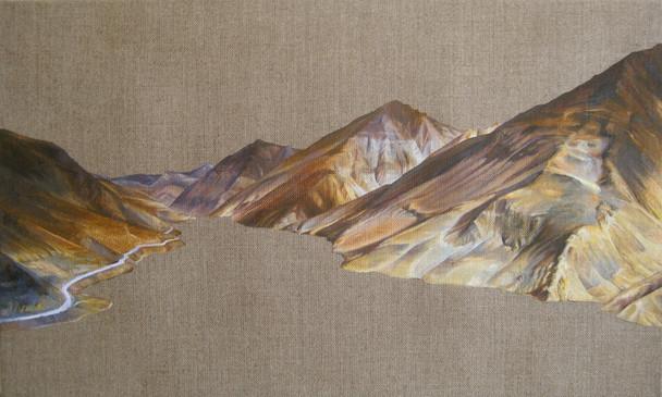 Yamdrok Tso, Oil on Linen, 50x30 cm