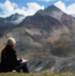 Drawing, Sketching, Himalaya, Pamirs, Artist, Mountains, Plein Air