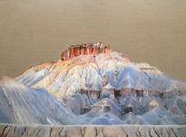 Butte, Oil on Linen, 36x48 inches