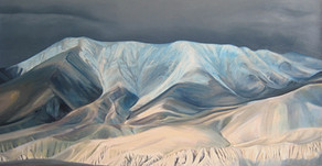 Day 25 Jharkot, Oil on Canvas, 40x30 inches