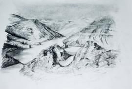 On-site sketch, Tibet