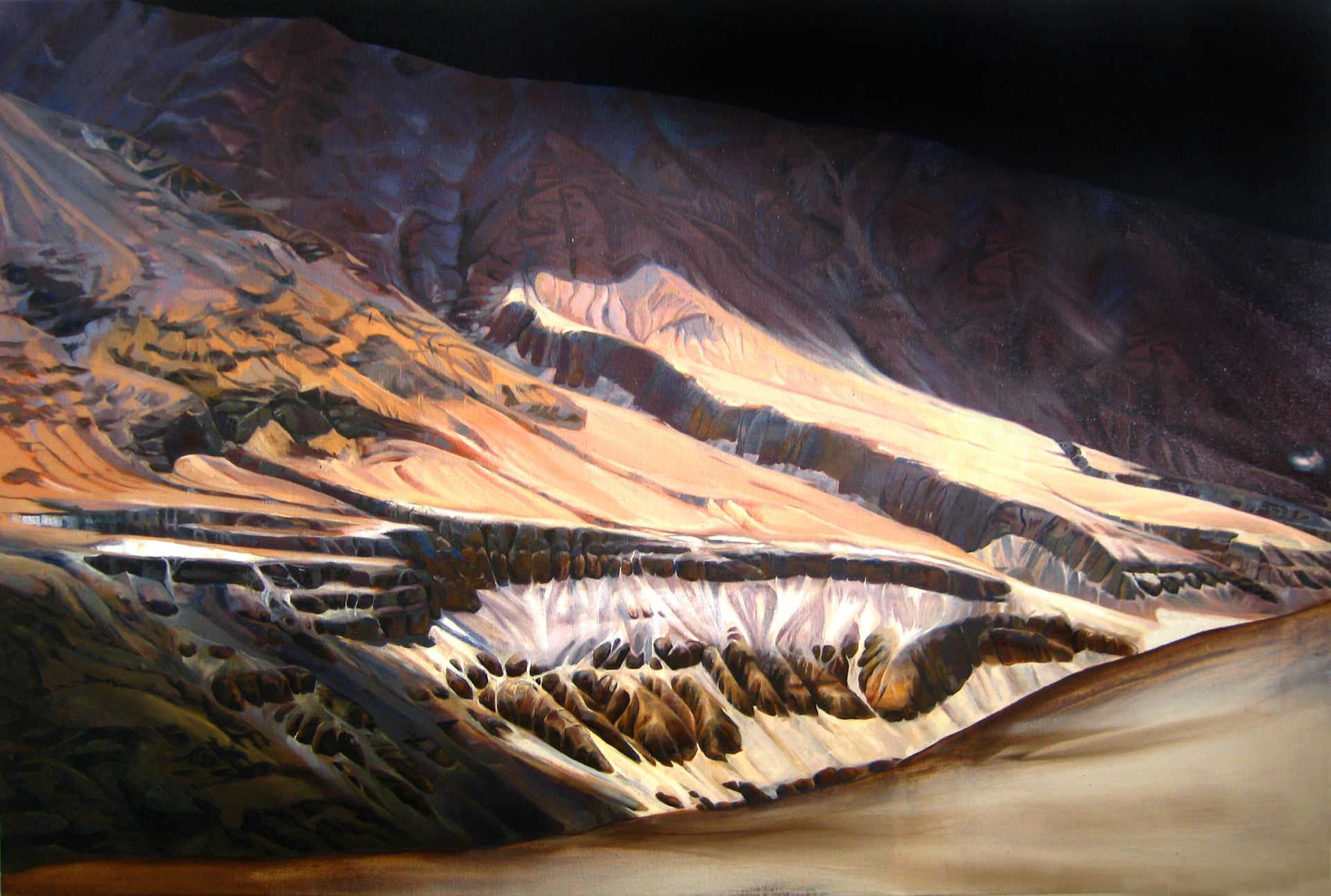Gorge, Oil on Linen, 54x36 inches