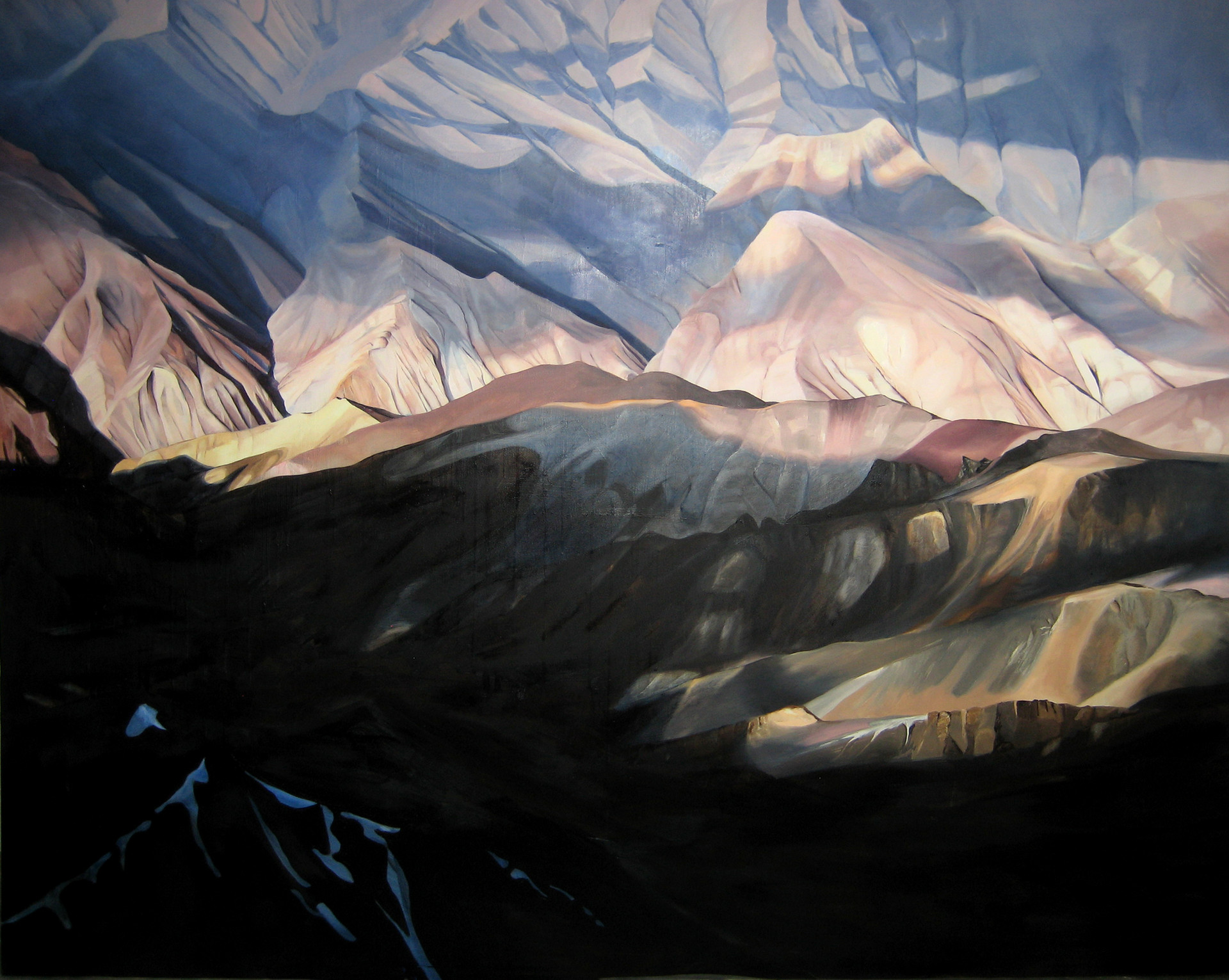 Kashmir 6000m, Oil on canvas, 72x60 inches