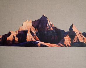 Badlands, Oil on Linen, 50x40cm