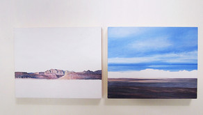 Day 19 Death Valley Diptych, Oil on Board, 8x10inches (x2)