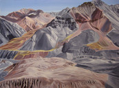 Lenin's Valley, Oil on Canvas, 64x48 inches