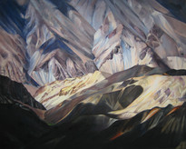 Kashmir 6100m, Oil on canvas, 72x60 inches