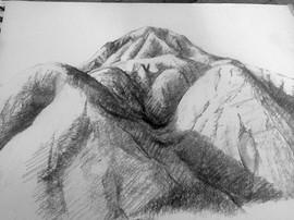 On-site sketch, Badlands National Park
