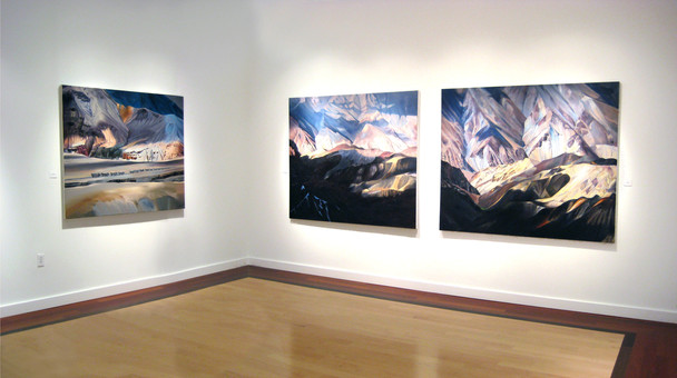 "Install of ""Travelogue"", Carroll Square Gallery, Washington DC"