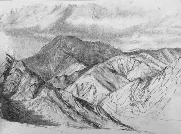 On-site sketch, Kashmir