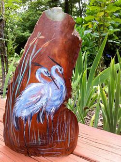 Heron on bark for Kary W