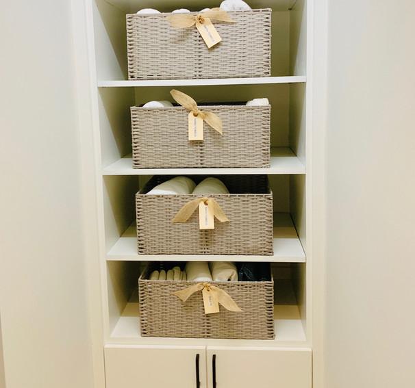 Linen closet, organization