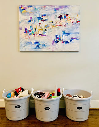 Playroom organization, decluttering, tidy playroom storage solutions Dallas Texas, Jenny Dietch expert organization
