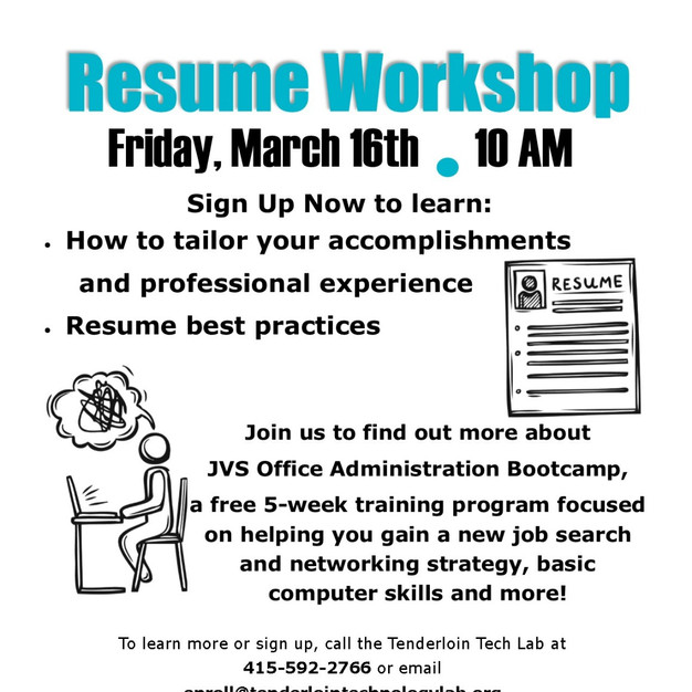 Need Resume Help Tenderloin Technology Lab