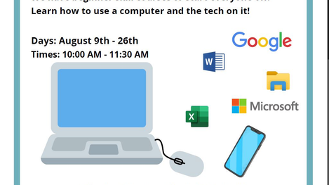 Basic Computer Skills Class Is Back!