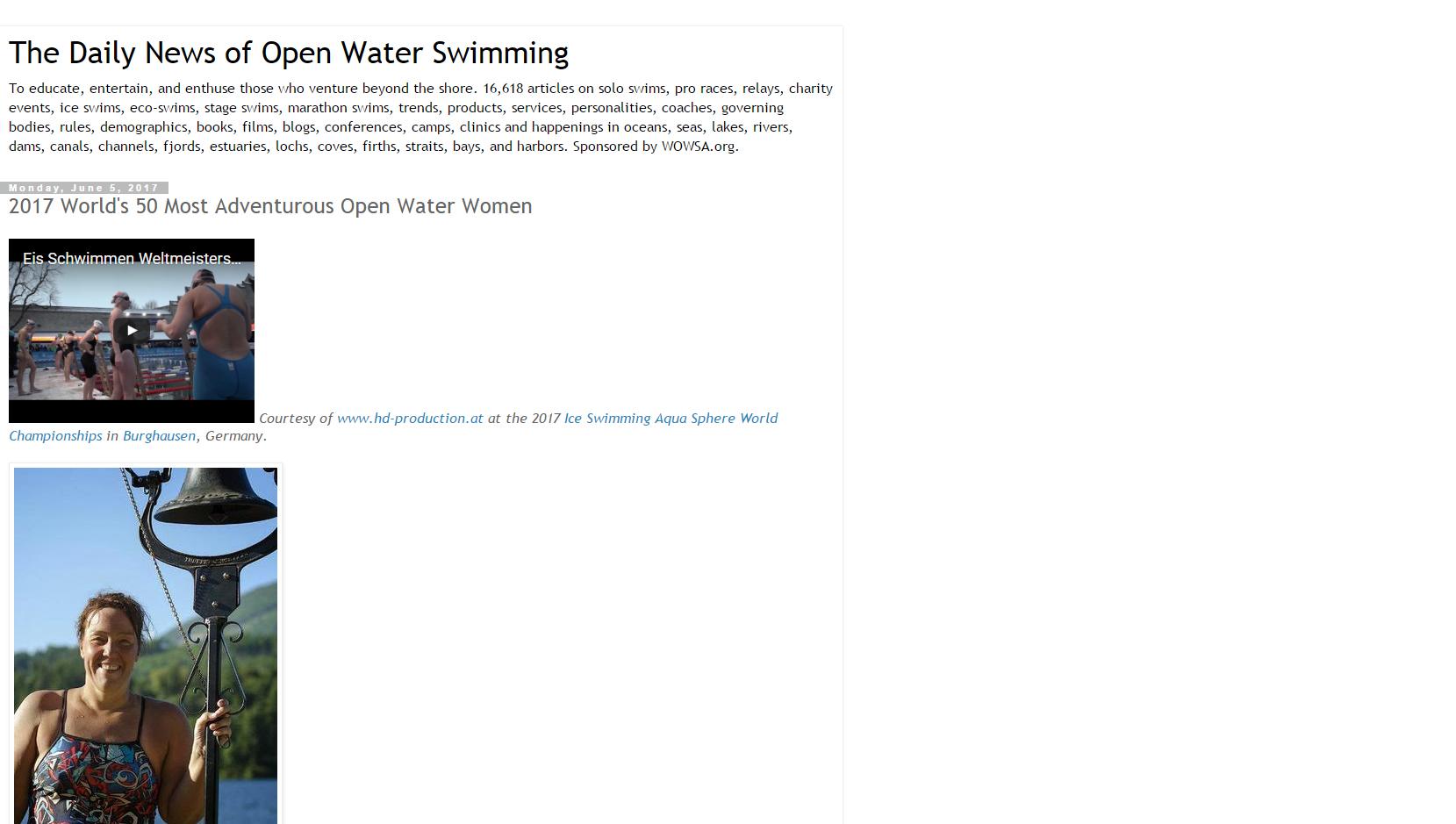 Ranging 50 Nadadoras Mundiales.