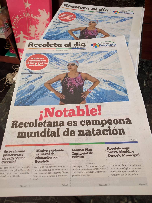 """Diario """"Recoleta al Día""""."""