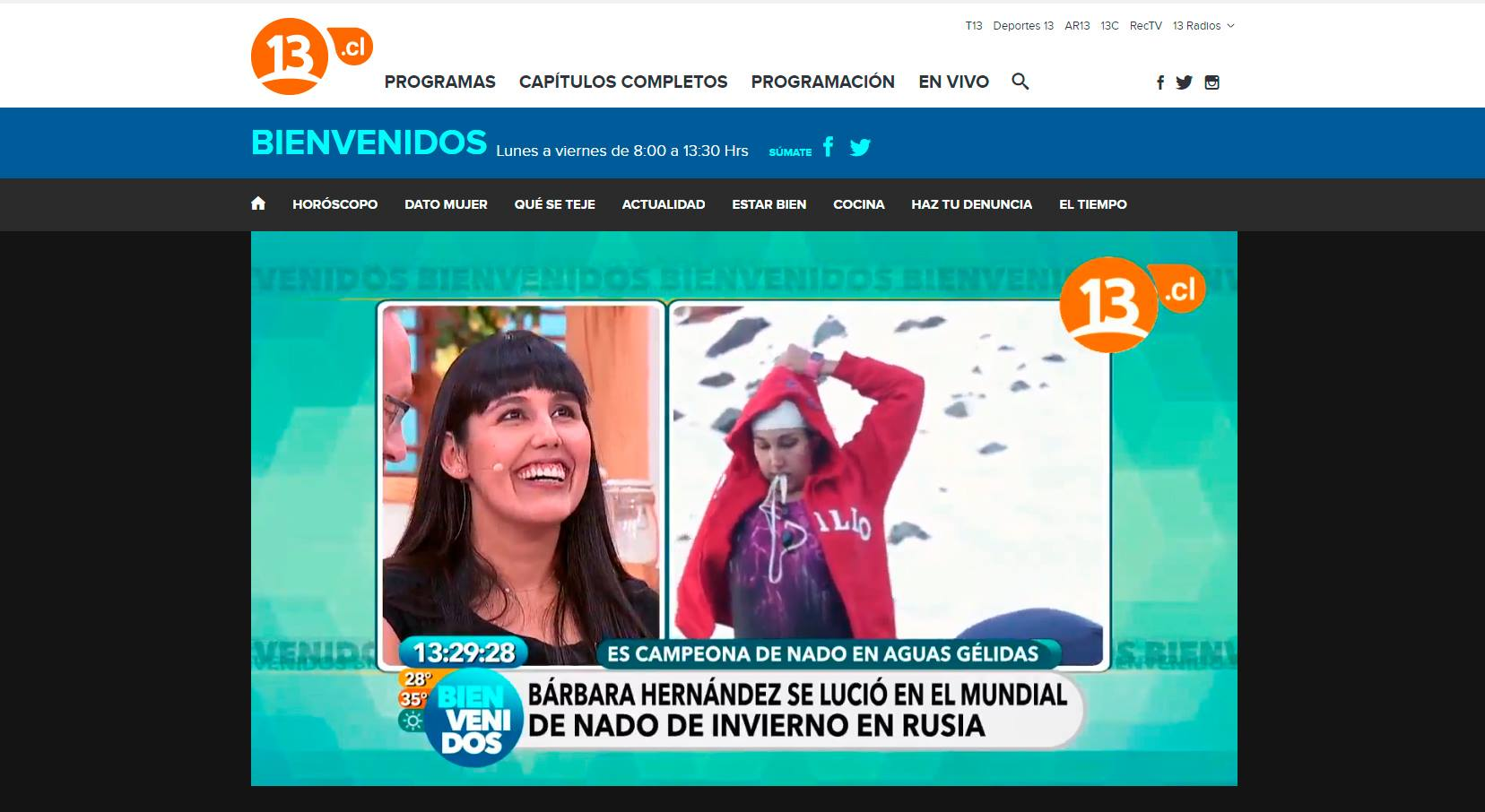 Canal 13.