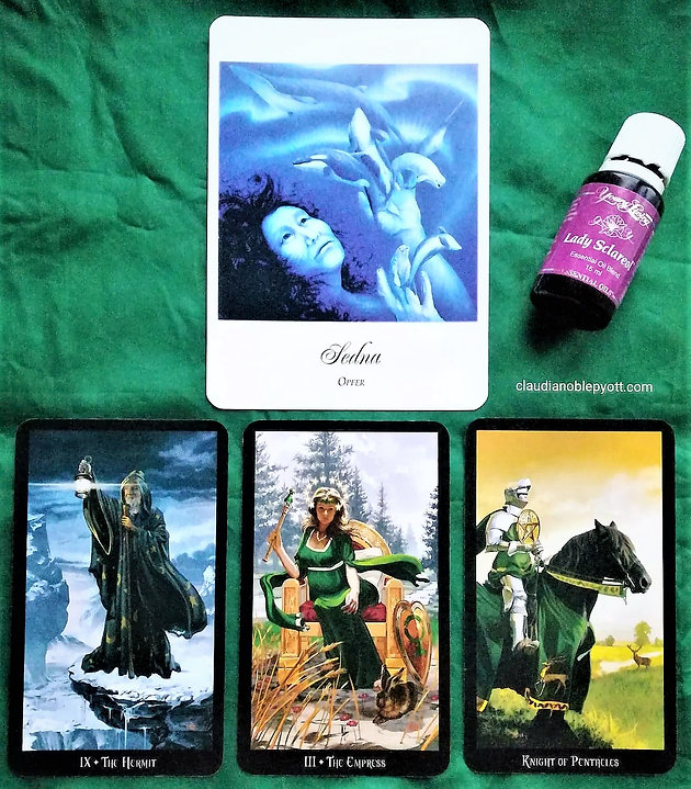 Sedna, The Hermit, The Empress & Knight of Pentacles