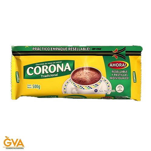 CHOCOLATE TRADICIONAL CORONA PASTILLADO INDIVIDUAL 500gr