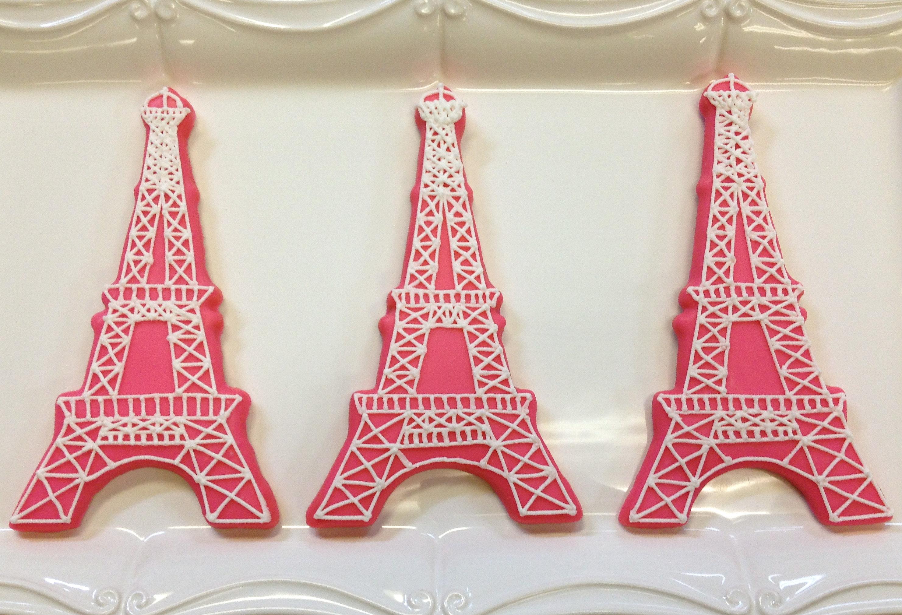 The Eiffel Tower Sarahs Cookies Eiffel Tower Shortbread Cookies