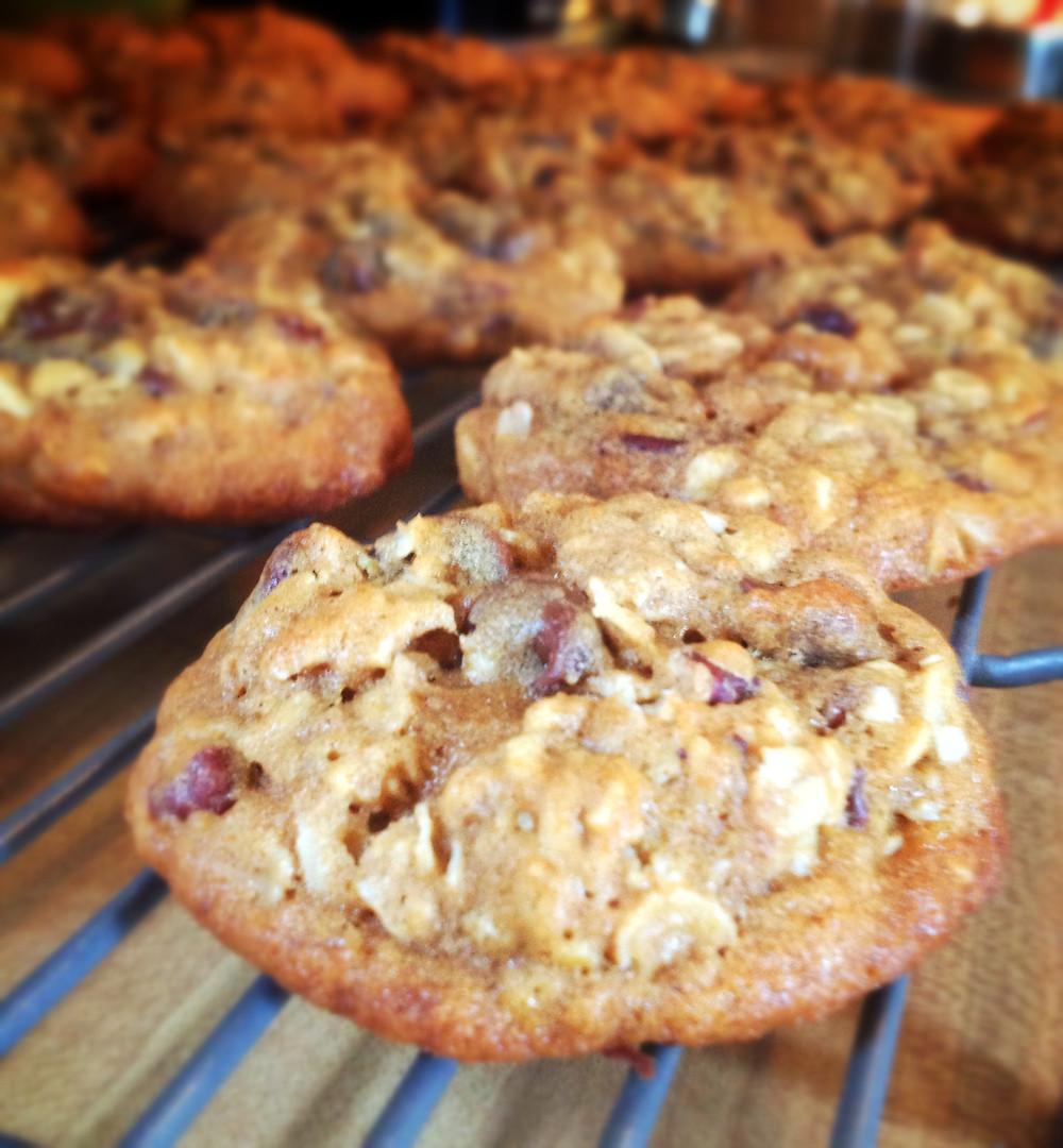chocolate chip, oatmeal, pecan, pumpkin cookies