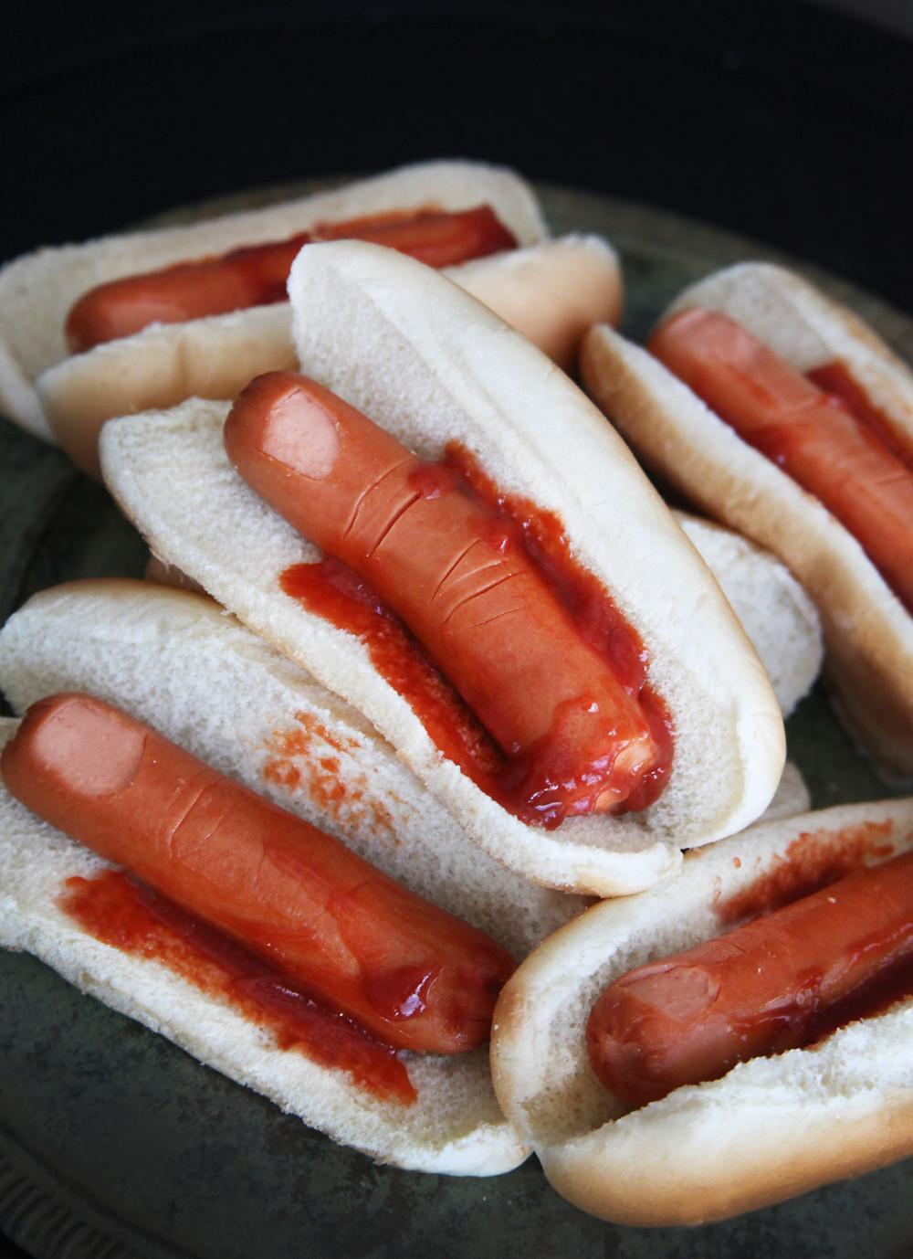 fingers in a bun