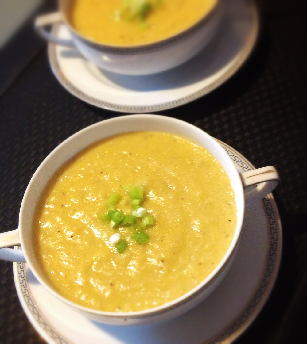 leek, potato and kohlrabi soup
