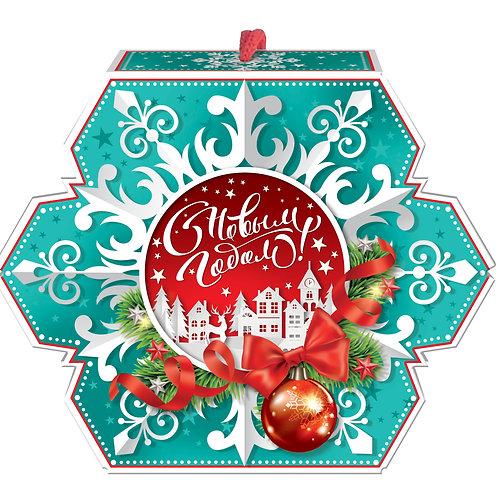 Новогодняя упаковка Бумажная снежинка