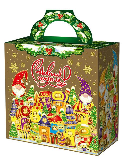 Новогодняя упаковка Городок гномов