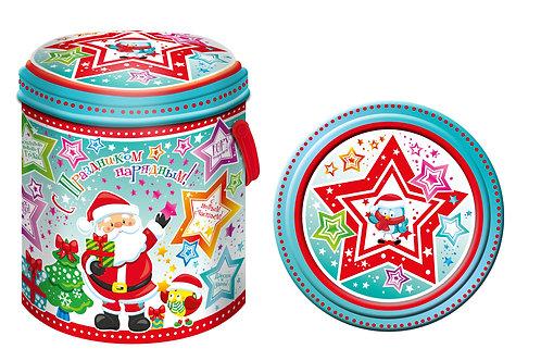 Новогодняя упаковка Цилиндр Звездопад ЖЕСТЬ