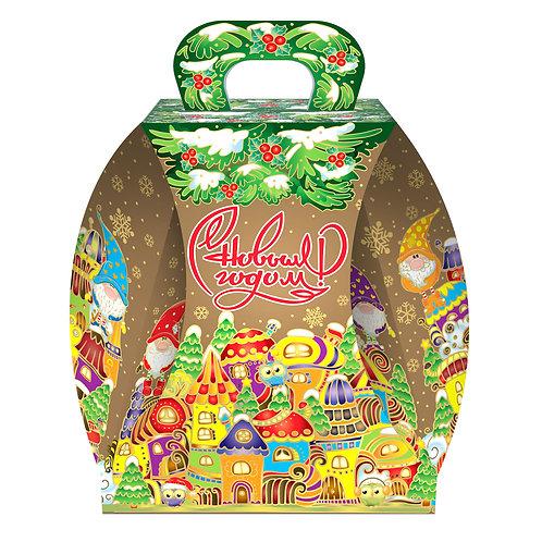 Новогодняя упаковка Колокол Городок гномов