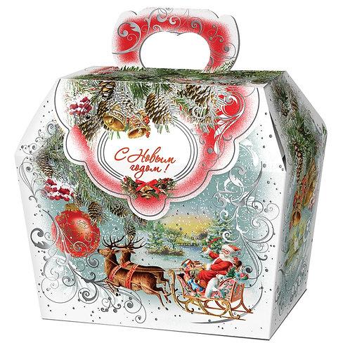 Новогодняя упаковка Шкатулка Декупаж