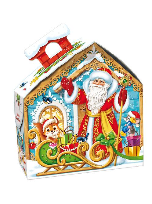 Новогодняя упаковка Резной домик