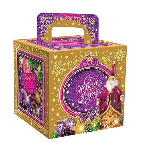 Новогодняя упаковка Золотой куб МГК