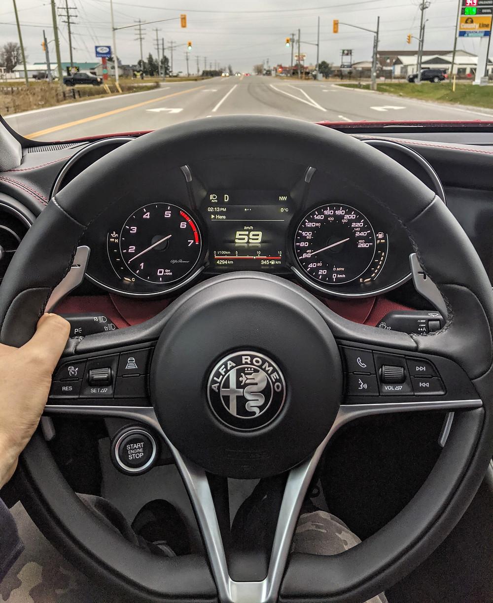 Alfa Romeo Giulia POV Driving Interior