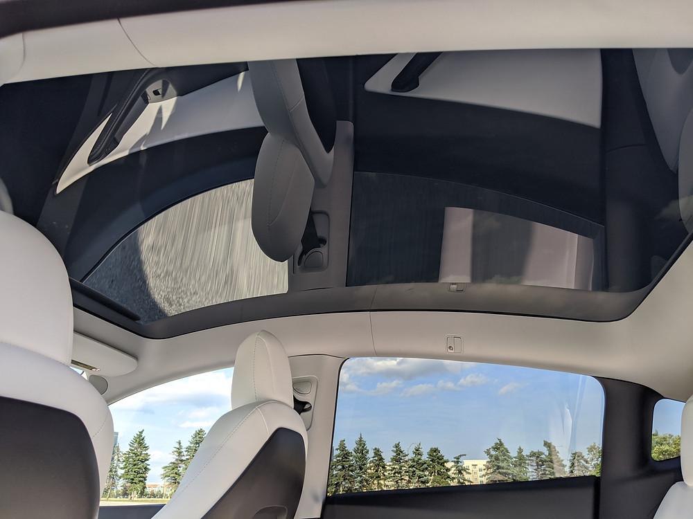 Tesla Model Y Glass Roof