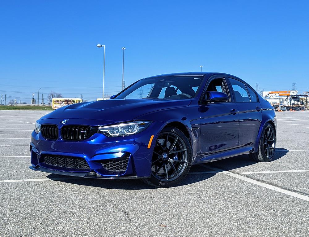 2018 BMW M3 CS Blue