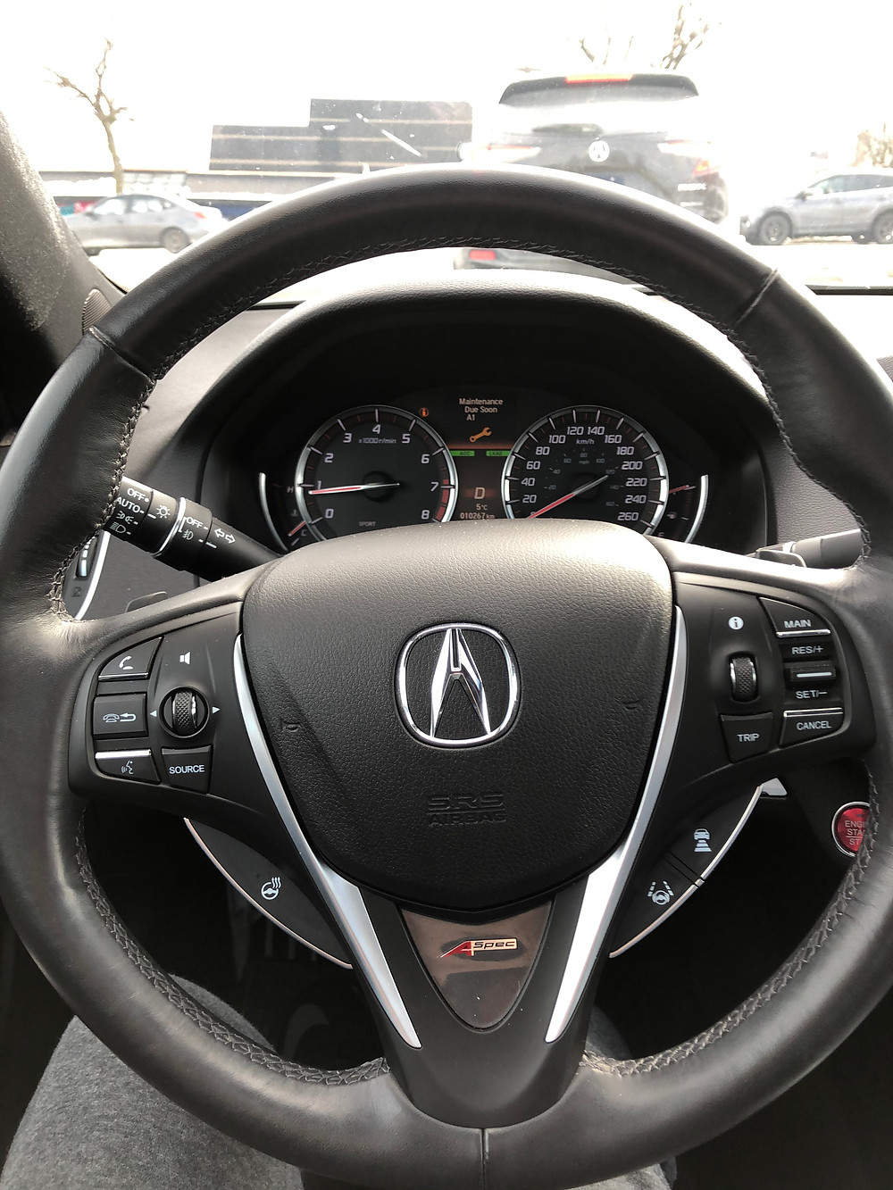 Acura TLX A-Spec Interior Steering Wheel