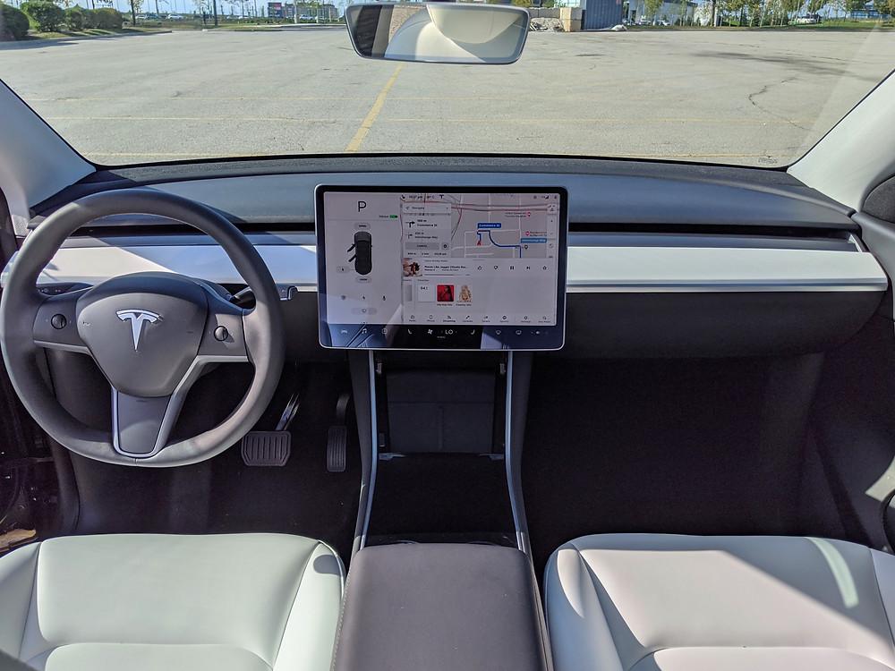 Tesla Model Y Interior White Dash