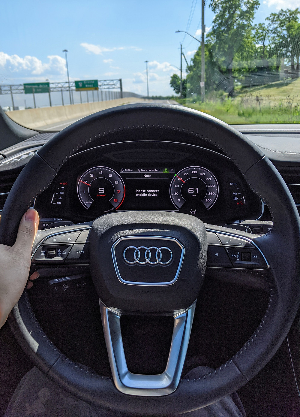 2020 Audi Q8 Driving Behind The Wheel Steering Wheel POV