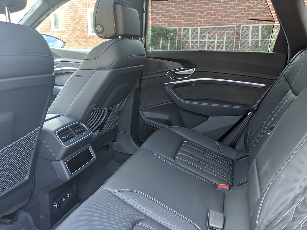 audi e-tron rear seats space