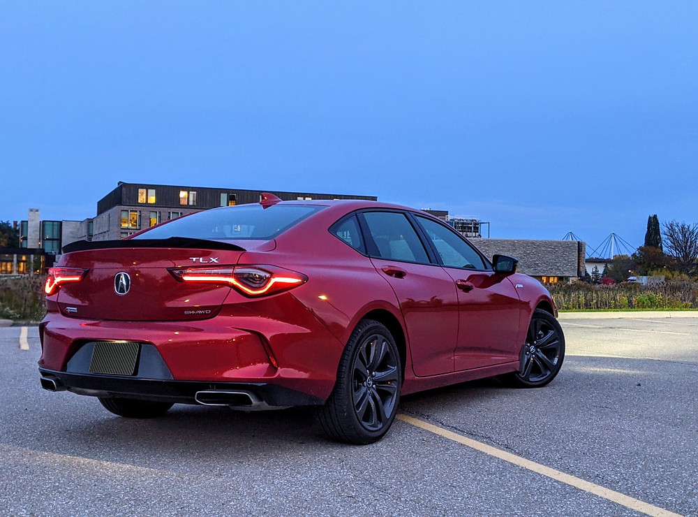 2021 Acura TLX A Spec Red Rear