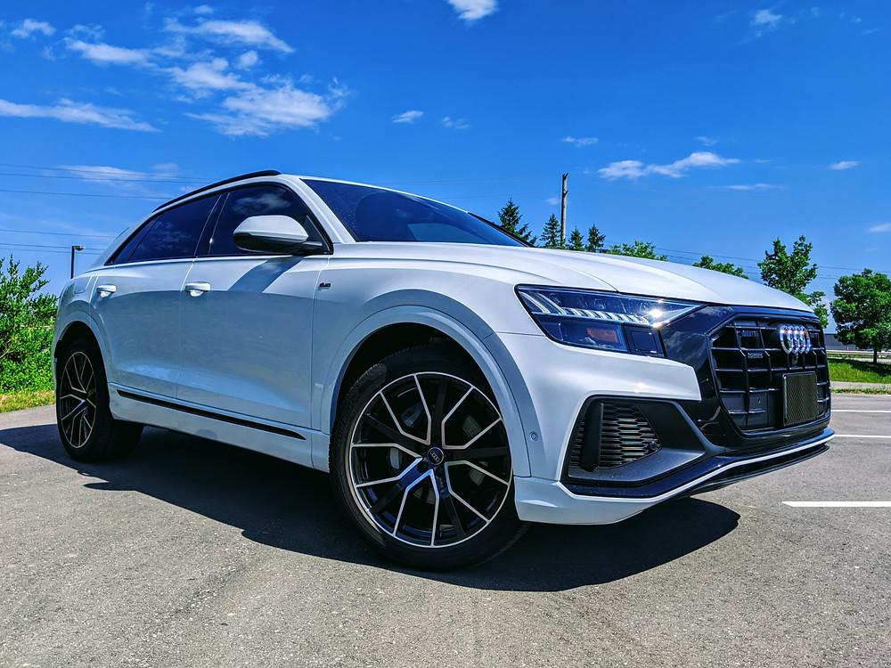 2020 Audi Q8 Technik White, S-Line Black Optics Package