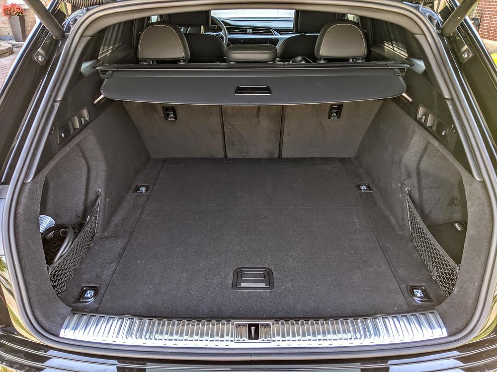 Audi E Tron trunk space