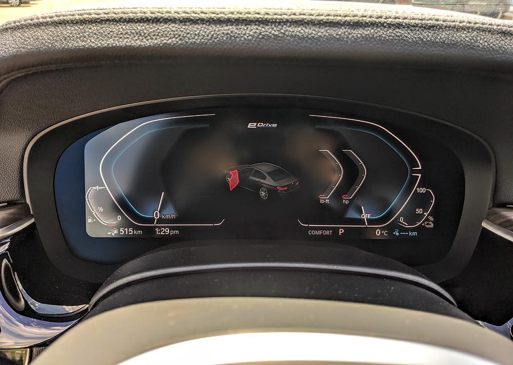 2020 BMW 5 Series Digital Instrument Display Live Cockpit
